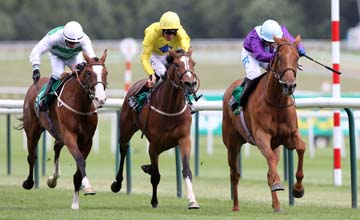 Barshiba and Hayley Turner win the Group 2 Lancashire Oaks at Haydock Park 03/07/2010