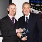 John Reid presents Roy Gedge with Stud Staff award 1.3.10