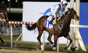 Cat Junior (Richard Hills) wins the Burj Nahaar at Meydan 04.03.2010