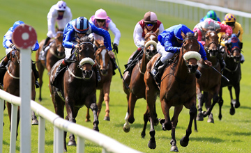 Bethrah (Left) battles with Godolphin's Anna Salai (Right) to win the Etihad Airways Irish 1,000 Guineas The Curragh 23.05.2010