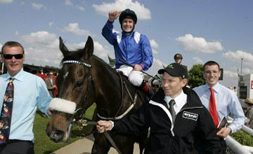 Bethrah after winning the Irish 1000 Guineas Curragh 23.05.2010