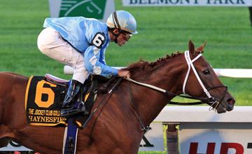Haynesfield win the Jockey Club Gold Cup at Belmont Park 02.10.2010