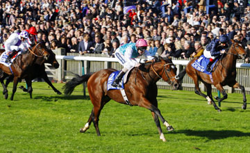 Frankel winning the Dewhurst