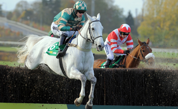 Nacarat winning The Charlie Hall Chase At Wetherby 30.10.2010