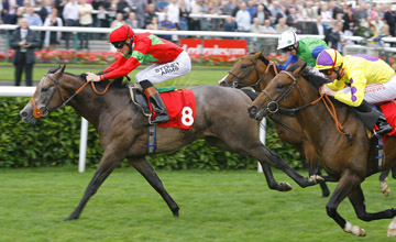 Zebedee wins the Flying Childers at Doncaster 10.09 2010