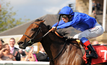 White Moonstone wins the May Hill at Doncaster 10.09.2010