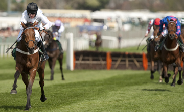 Barry Geraghty and Spirit Son win The Mersey novices hurdle at the Grand National meeting Aintree 9.04.2011