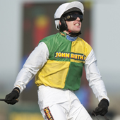 Jason Maguire after winning the Grand National Aintree 9.04.2011