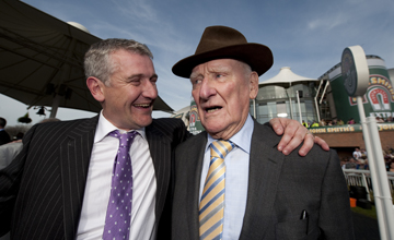 Ginger and Donald McCain after the Grand National Aintree 9.04.2011