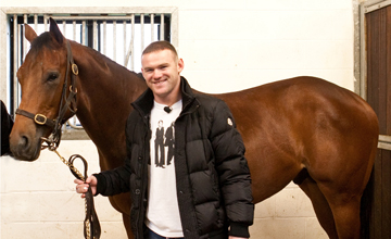 Wayne Rooney with his horse - 19.12.2011