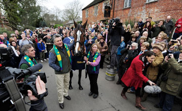 Kauto Star - paraded through the streets of Ditcheat - 27/12/2011