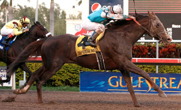 Giant Oak (Shaun Bridgmohan) wins Donn Handicap - Feb 2011