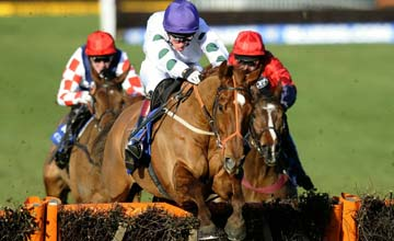 Marsh Warbler clear the last to win The Coral Future Champions Finale Juvenile Hurdle Race at Chepstow 08.01.2011