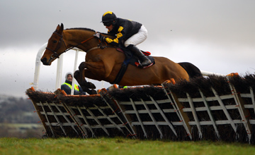 Rick and Paddy Flood win the Dr Maire O'Connor Memorial Hurdle Punchestown 08.01.2011