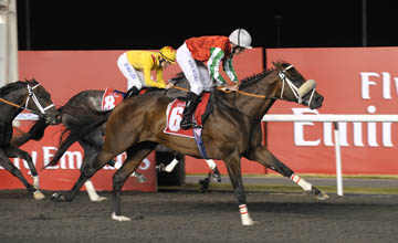 Bankable wins the Mahab Al Shimaal Sponsored by Emirates Airline At Meydan Racecourse 03.03.2011