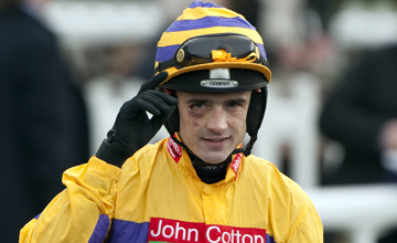 Ruby Walsh After his comeback win aboard Mon Parrain Sandown 12.03.2011