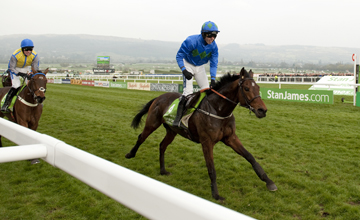 Hurricane Fly (Ruby Walsh) wins the Champion Hurdle from Peddlers Cross Cheltenham festival 15.03.2011