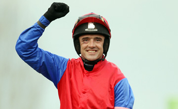Ruby Walsh after winning on Quevega Cheltenham 15.03.2011