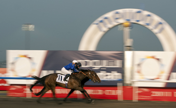 Khawlah (Mickael Barzalona) wins the UAE Derby from Master Of Hounds Meydan 26.03.2011
