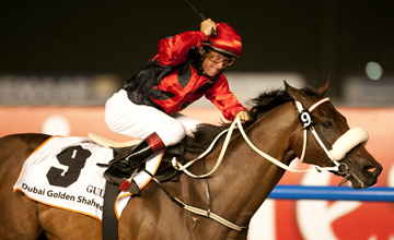 Rocket Man (Felix Coetzee) wins the Golden Shaheen Meydan 26.03.2011