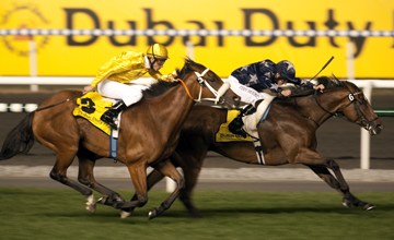 Presvis wins the Dubai Duty Free from River Jetez Meydan 26.03.2011