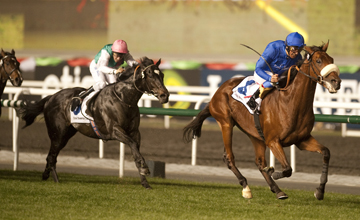 Rewilding (Frankie Dettori) wins the Sheema Classic Meydan 26.03.2011