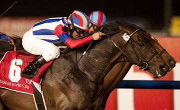 Victoire Pisa (6) wins the Dubai World Cup from Transcend Meydan 26.03.2011