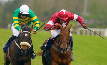 Lovethehigherlaw Right And Paddy Mullins Win The Betchronicle Com Champion I N H Flat Race From Waaheb Punchestown Festival