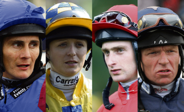 JOCKEYS Paul Doe, Kirsty Milczarek, Greg Fairley, Jimmy Quinn