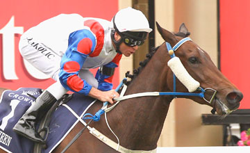 Mosheen wins Race 6 the Crown Oaks during Crown Oaks Day