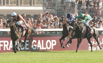 Danedream (Andres Starke) wins the Prix de L'Arc de Triomphe