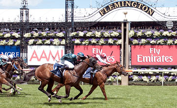 Sepoy - Kerrin McEvoy - Coolmore Stud Stakes, AAMI Victoria Derby Day, Flemington, Sat 29th Oct 2011