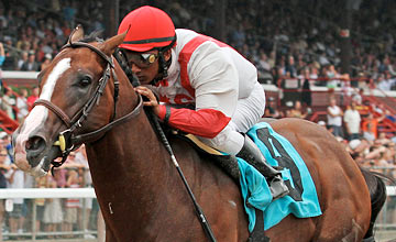 Currency Swap wins Hopeful Stakes