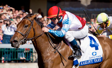Karlovy Vary (Dynaformer) James Graham up, wins the Central Bank Ashland Stakes