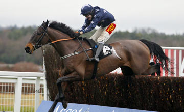 Wyck Hill and Tom Scudamore on the way to victory at Ascot