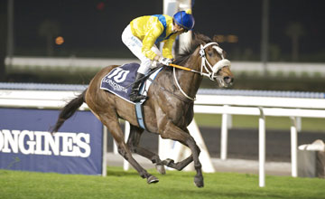 Mahbooba (Christophe Soumillon) wins the Al Rashidiya Tria