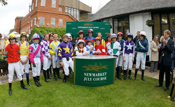 The Charles Owen Pony Race riders group photo. Newmarket 9/6/2012