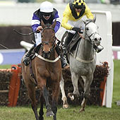 Campbell Gillies wins 2012 Albert Bartlett on Brindisi Breeze - Cheltenham