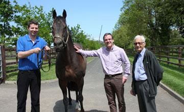 Lester Piggott visits the Irish National Stud