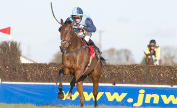 Cristal Bonus and Daryl Jacob run away from the last to win the Ladbrokes Chase Down Royal Photo: Patrick McCann 03.11.2012