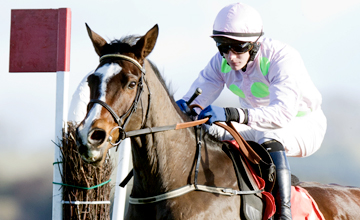Mikael D'Hagunet and Paul Townend jump during the Punchestown Gift Vouchers For Christmas Beginners Chase Punchestown Photo: Patrick McCann 17.11.2013