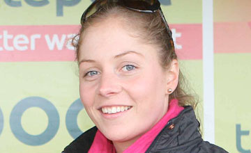 Jessica Bethell after a winner at Musselburgh