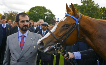 Dawn Approach with winning owner Sheikh Mohammed