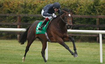 Kingsbarns and Joseph O'Brien win the Irish Stallion Farms EBF C&G Maiden Navan Photo: Patrick McCann 10.10.2012