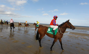 Topadee and Dany Grant before winning the Balmarino Handicap Laytown Photo: Patrick McCann 13.09.2012