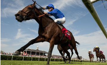 Encke (Mickael Barzalona) wins The St Leger Doncaster 15.9.12 Pic: Edward Whitaker