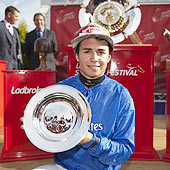 Mickael Barzalona - St Leger - Doncaster 2012