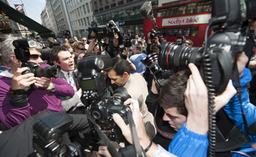 Mahmood al Zarooni arrives at the hearing at the BHA High Holborn 25.4.13 Pic: Edward Whitaker