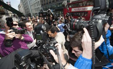 Mahmood al Zarooni arrives at the hearing at the BHA High Holborn 25.4.13 Pic: Edward Whitaker