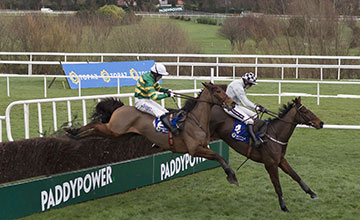 Morning Assembly leads Carlingford Lough and AP McCoy over the final fence
